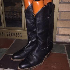 Frye Men's Cowboy Boots Size 9D Black